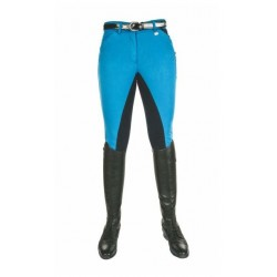 HKM Pro Team rijbroek Pocket Flap Global Team blauw mt 38